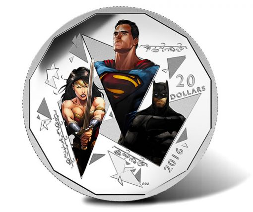 2016 $20 Batman v Superman Trinity Silver Coin