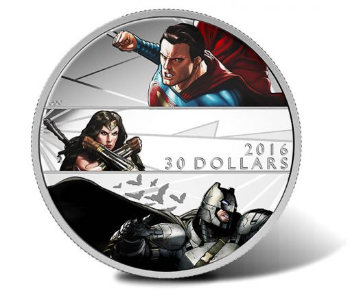2016 $30 Batman v Superman 2 oz Silver Coin