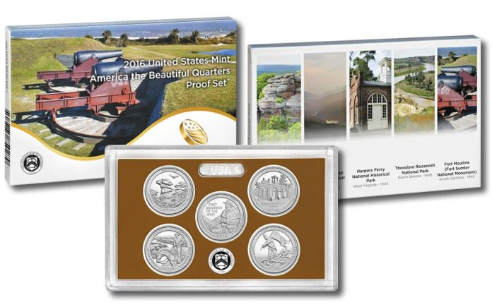 2016 America the Beautiful Quarters Proof Set, New Packaging