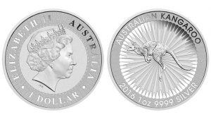2016 Australian Kangaroo 1oz Silver Bullion Coin