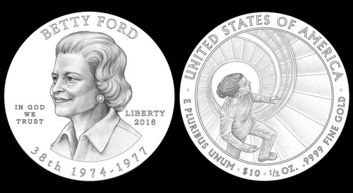 2016 Betty Ford First Spouse Gold Coin Designs