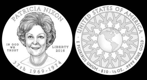 2016 Patricia Nixon First Spouse Gold Coin Designs
