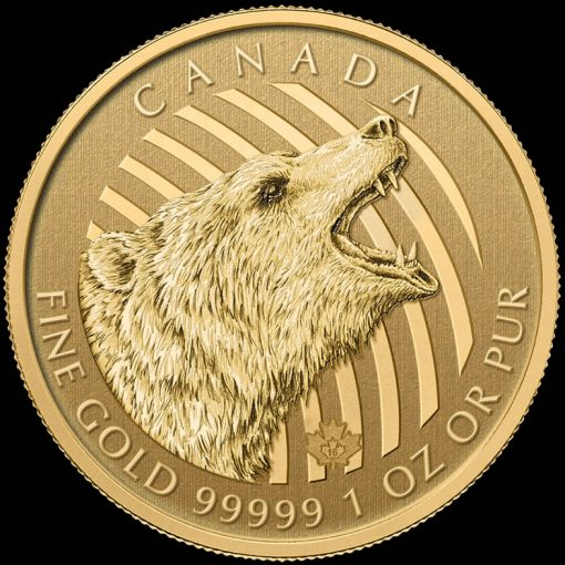 2016 Roaring Grizzly 1 oz Gold Bullion Coin