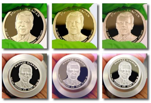 2016-S Proof Ronald Reagan Presidential $1 Coin and die photos
