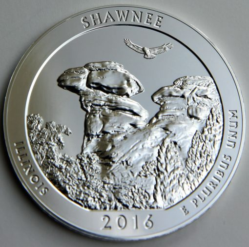 2016 Shawnee National Forest Five Ounce Silver Bullion Coin