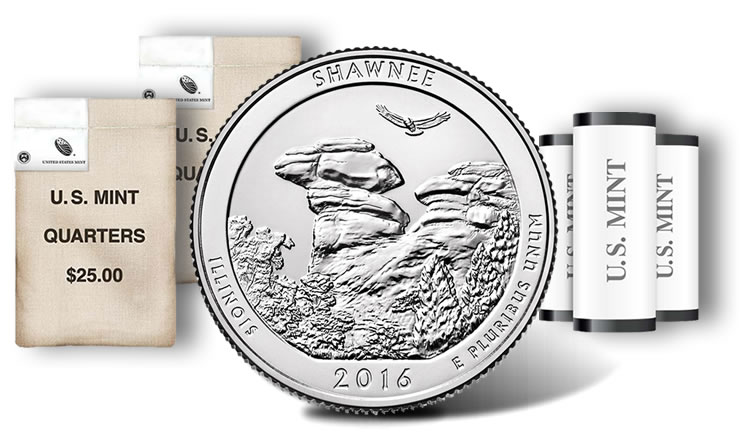 2016 S Silver Proof Shawnee ILLinois National Forest NP Quarter Choice Uncirculated US Mint