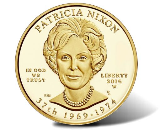 2016-W $10 Proof Patricia Nixon First Spouse Gold Coin, Obverse