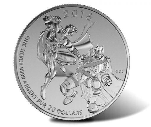 Canadian 2016 $20 Batman v Superman - Dawn of Justice Silver Coin