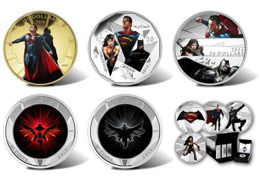 Canadian 2016 Batman v Superman Coins