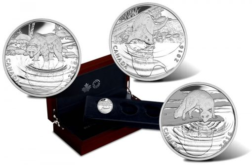 Canadian 2016 Wildlife Reflections Silver Coins
