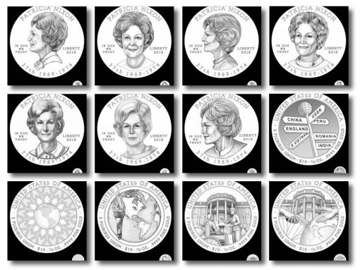 Design candidates 2016 Patricia Nixon First Spouse Gold Coin