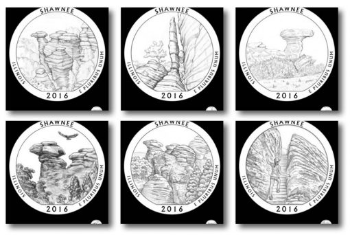 Design candidates for the Shawnee National Forest Quarter