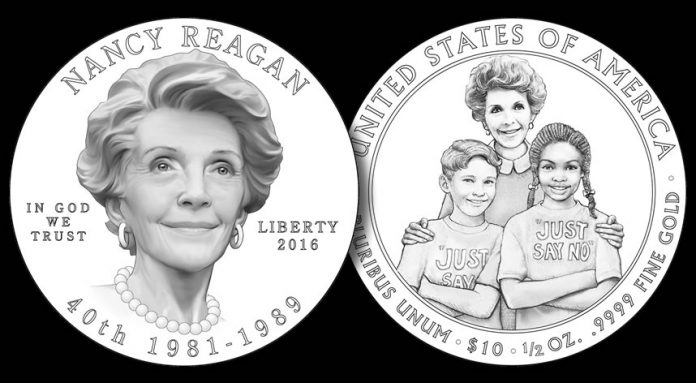 Designs for 2016 Nancy Reagan First Spouse Gold Coin