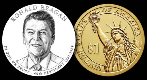 Designs for 2016 Ronald Reagan Presidential $1 Coin