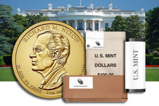 Rolls, Bags and Boxes of Richard M. Nixon Presidential $1 Coins