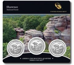 Three-Coin Set of 2016 Shawnee National Forest Quarters