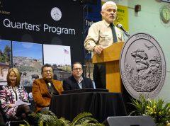 Shawnee National Forest Supervisor Allen Nicholas speaks at ceremony
