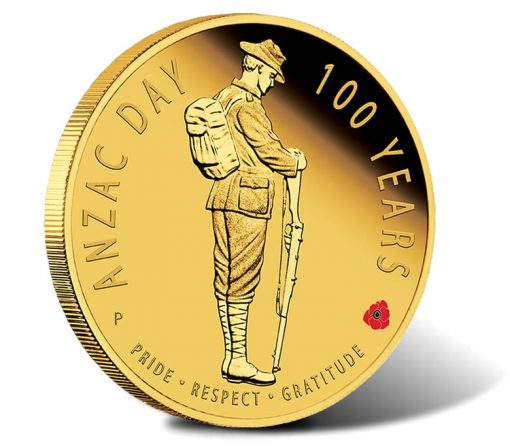 2016 $25 Anzac Day 100 Years Gold Proof Coin
