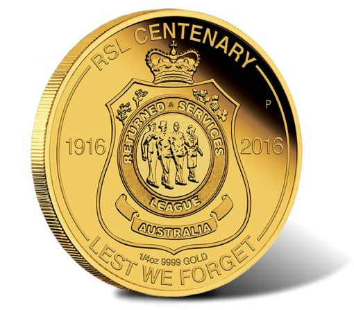 2016 $25 RSL Centenary Gold Proof Coin
