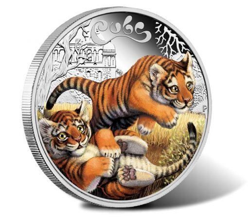 2016 50c Tiger Cubs Silver Proof Coin