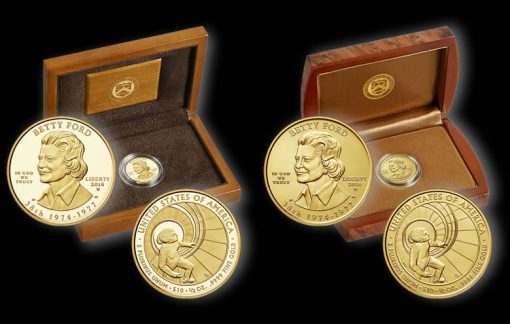 2016 Betty Ford First Spouse Gold Coins and Cases