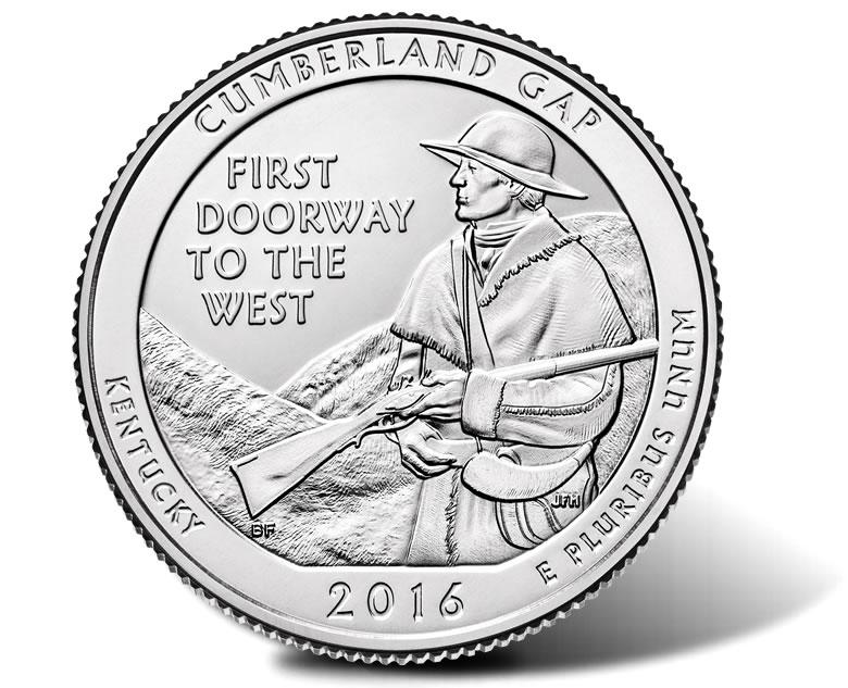 2016 P Cumberland Gap Quarter National Park ATB P Mint ~ UNC 2nd SOLD OUT