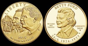 2016 National Park Service 100 Anniversary and Betty Ford Gold Coins