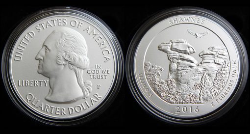 2016-P Shawnee National Forest Five Ounce Silver Uncirculated Coin