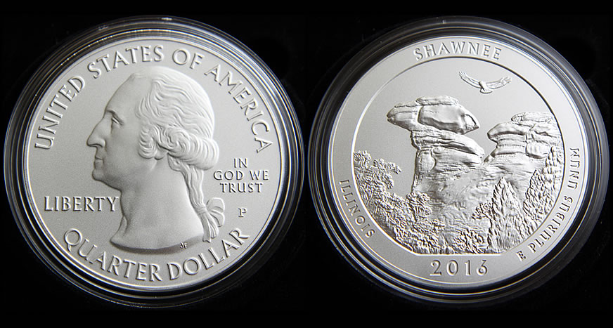 IL 2016 P/&D SHAWNEE NATIONAL FOREST TWO QUARTERS SET UNCIRCULATED