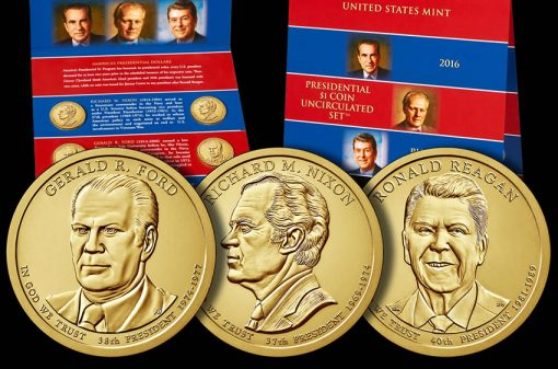 2016 Presidential $1 Coin Uncirculated Set