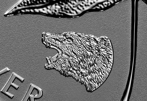 2016 Roaring Grizzly Privy Mark on 2016 Silver Maple Leaf