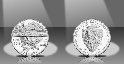2016-S Proof National Park Service 100th Anniversary Clad Half-Dollar, Obverse and Reverse