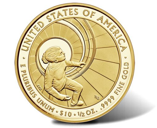 2016-W $10 Proof Betty Ford First Spouse Gold Coin, Reverse