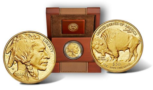2016-W Proof American Gold Buffalo and Case