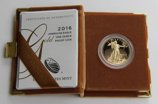 2016-W Proof American Gold Eagle in Presentation Case