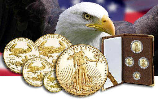 2016-W Proof American Gold Eagles and 4-coin set
