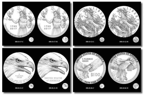 2017 American Liberty HR Obverse Design Candidates