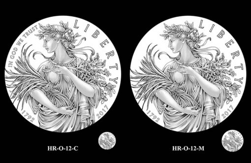 2017 American Liberty HR Obverse Design Candidates - HR-O-12