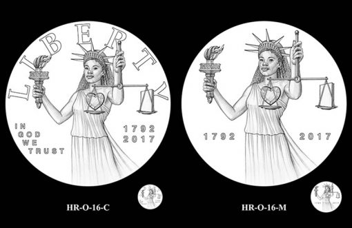 2017 American Liberty HR Obverse Design Candidates - HR-O-16
