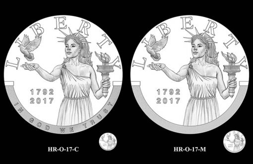 2017 American Liberty HR Obverse Design Candidates - HR-O-17