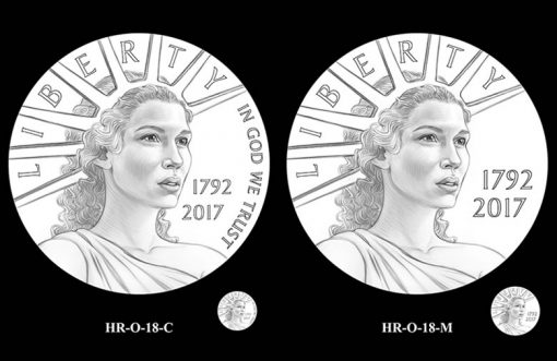 2017 American Liberty HR Obverse Design Candidates - HR-O-18