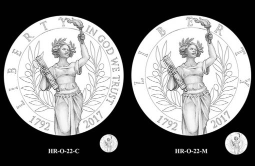 2017 American Liberty HR Obverse Design Candidates - HR-O-22