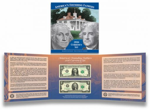 America's Founding Fathers 2016 Currency Set