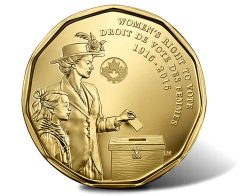 Canadian 1916-2016 Women's Right to Vote $1 Coin
