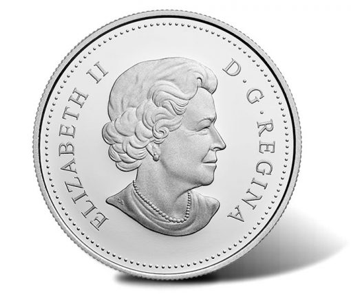 Canadian 2016 Cherry Blossoms Silver Coin, Obverse