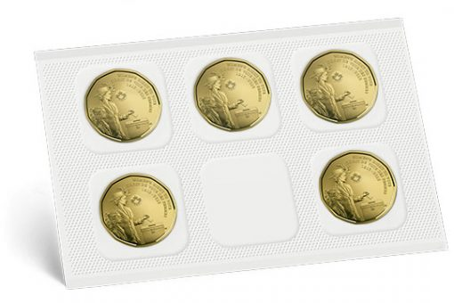 Five-Coin Pack of Canadian 1916-2016 Women's Right to Vote $1 Coins