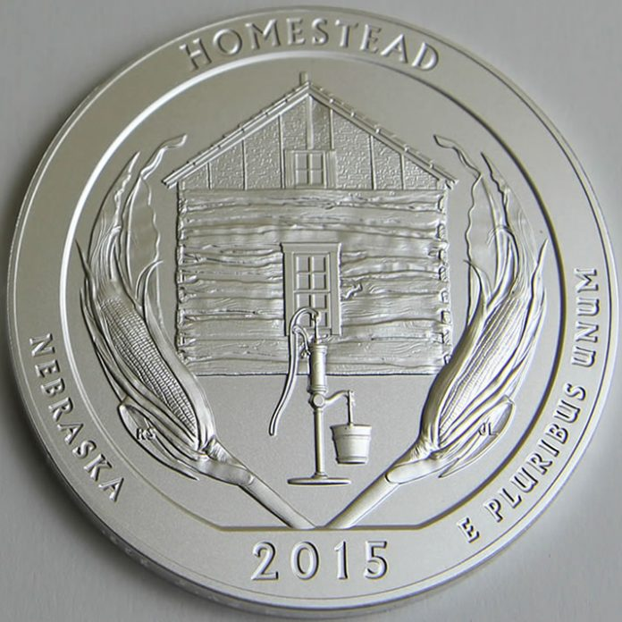 Homestead 5 oz silver coin