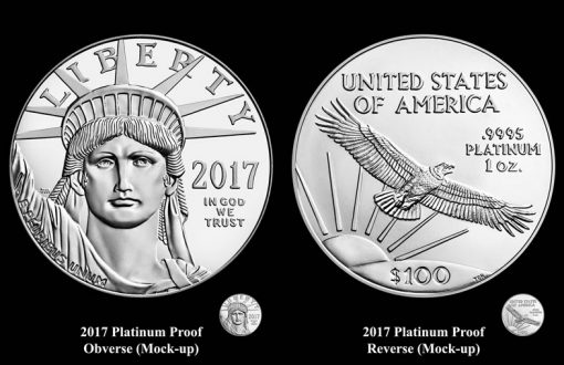 Mock-Up Designs for 2017-W $100 Proof American Platinum Eagle