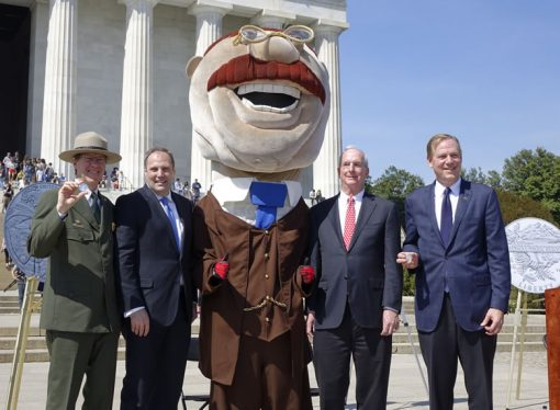 Official dignitaries and NPS coin launch