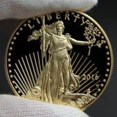 Photo of 2016-W $50 Proof American Gold Eagle, Obverse